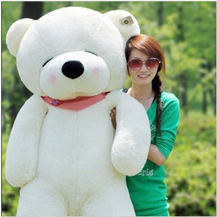 ФОТО Stuffed plush 140cm white teddy bear Sleepy bear toy doll gift present w1091