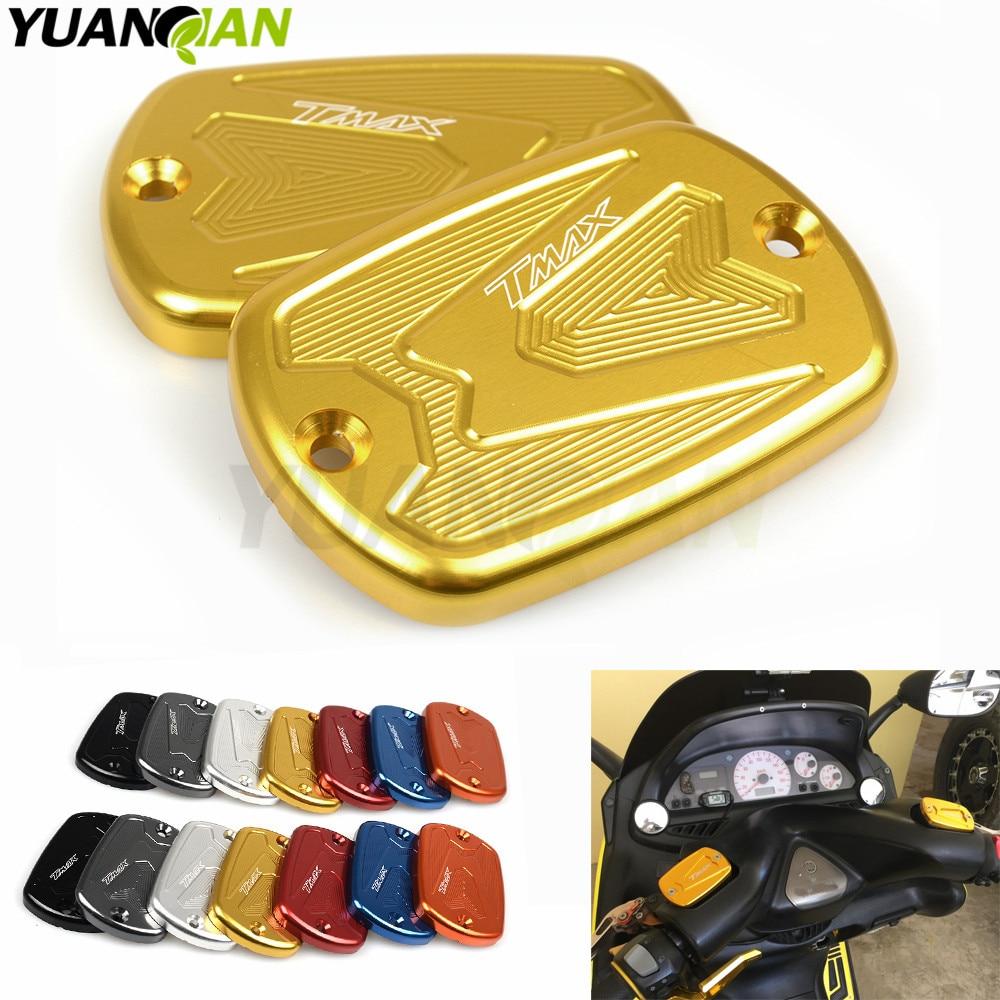 T MAX Tmax 530 500 CNC Brake Fluid Reservoir Cap Cover For Yamaha T Max T-Max 500 2008-2011 Tmax 530 2012 2013 2014 2015 motorcycle cnc front brake fluid reservoir cap cover for yamaha t max 530 500 tmax530 xp530 2012 2016 tmax500 xp500 2008 2011