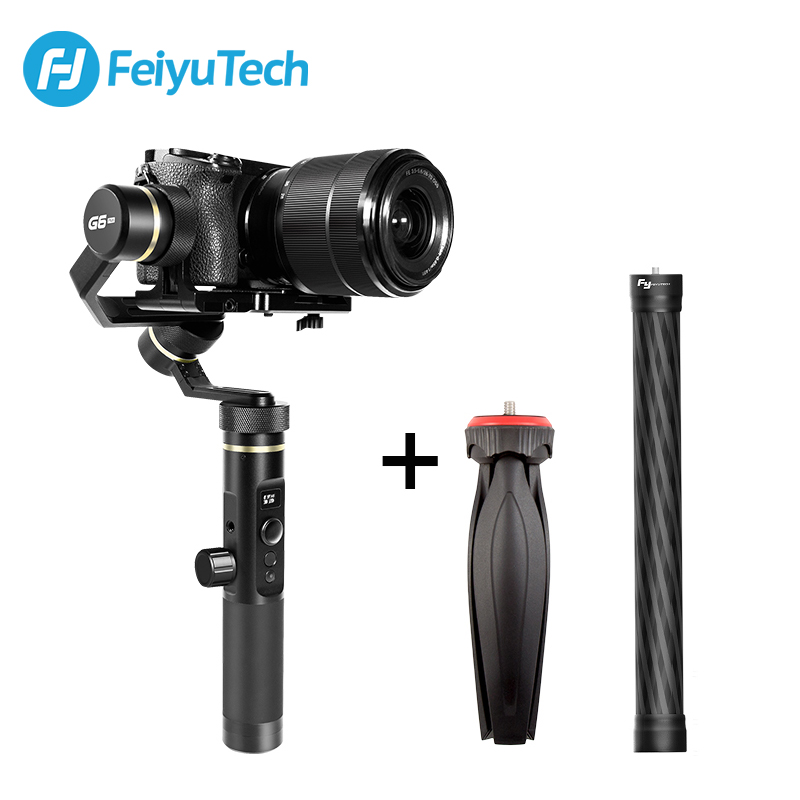 FeiyuTech G6 Plus 3-Axe Poignée Éclaboussures Cardan Feiyu G6P Stabilisateur pour Mirrorless Poche Caméra GoPro Hero 5/6 Smartphone
