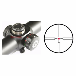Image 4 - Vector Optics Tactical 1 6x 24mm Compact Gun Riflescope Long Eye Relief Clear Illuminated 4A Hunting Dot Sight Free Shipping