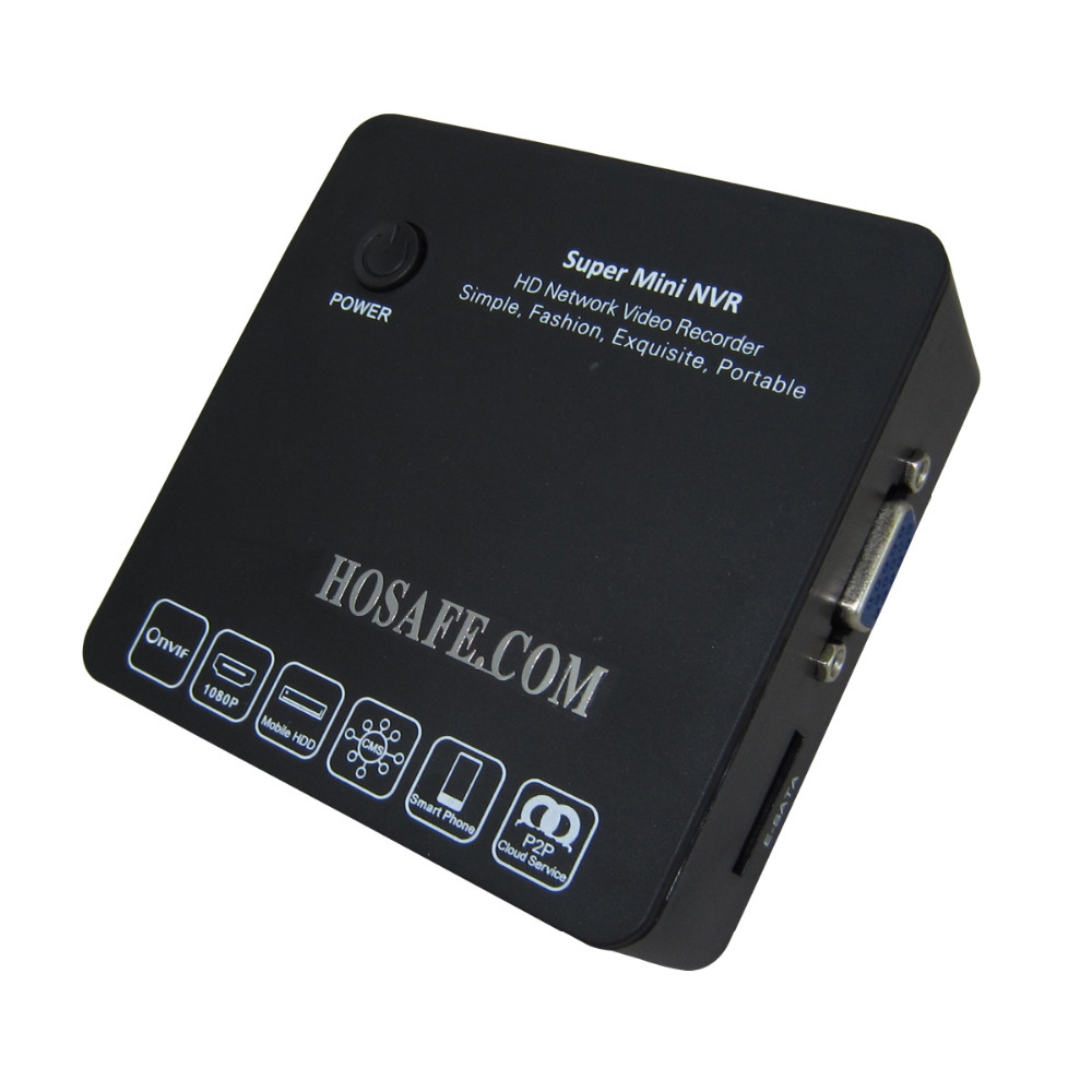 HOSAFE 1080P ONVIF NVR 8 Channel H.264 Mini Size Support 8CH 720P/960P/1080P, Working with Moblie HDD (Not included)