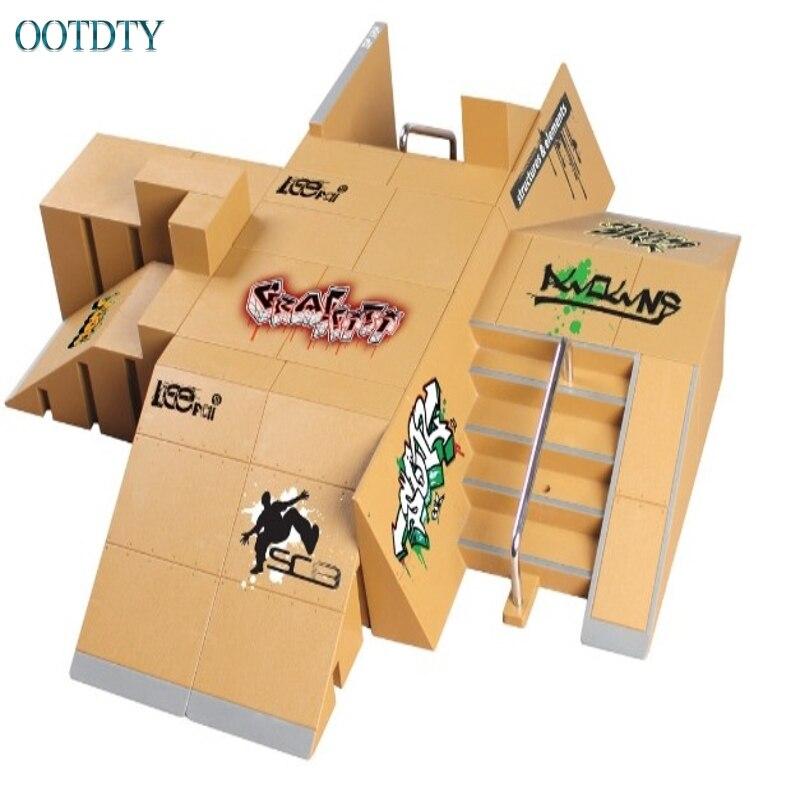 Haute qualité 11 pièces Skate Park Kit rampe pièces pour Tech pont touche Mini doigt Skateboard #330