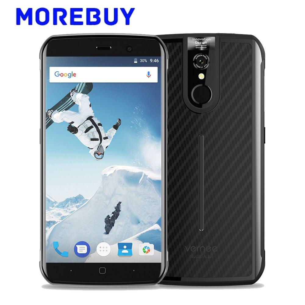 """Vernee Active IP68 Водонепроницаемый смартфон 5.5 """"FHD MT6757 Восьмиядерный 6 г Оперативная память 128 г Встроенная память Android 7.0 NFC мобильный телефон 4200 мАч…"""