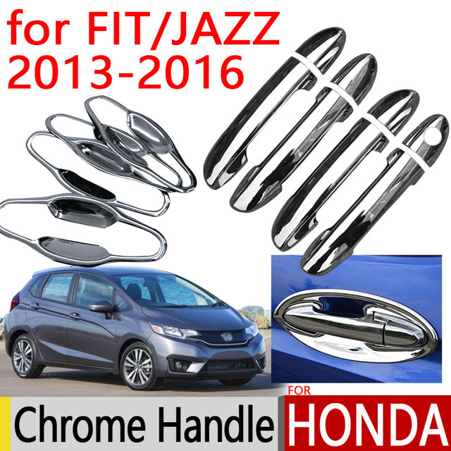 For Honda FIT JAZZ 2013   2016 Accessories Chrome Door Handle 2014 2015  Luxury No Rust