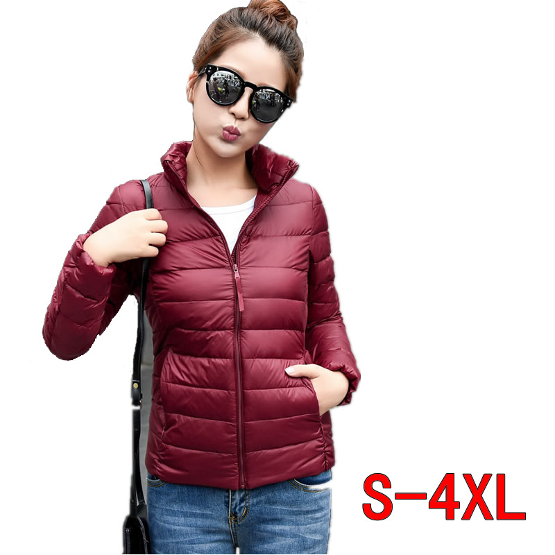 Casual Fashion Fall Jacket Women Short Duck Warm Coat Slim Solid Ultra Thin Winter Warm Puffer Jackets Zipper Warm Light Parka Diversified Latest Designs Jackets & Coats