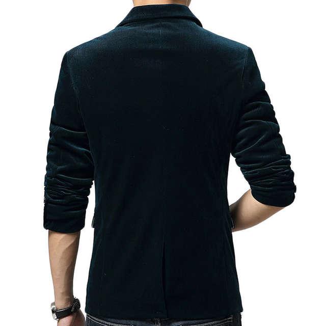 2a232ad6189 New Black Blazer Men Autumn Winter Fashion Design Mens Slim Fit Blazer  Jacket Brand Single Button