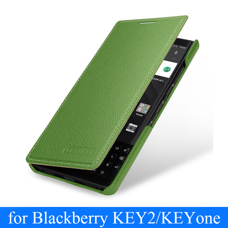 Genuine Leather Case For Blackberry KEY2 Book Flip Business Phone Case For Blackberry KEY 2 Shell