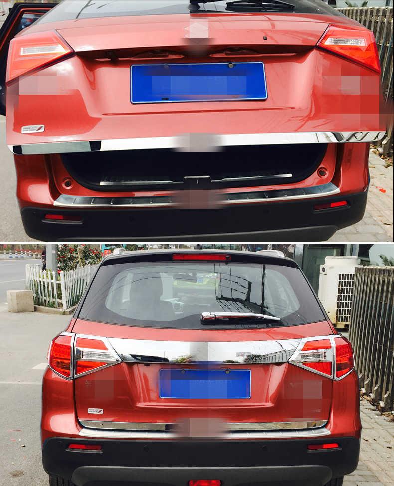 鈴木 Vitara 2016-2018 リアトランクテールゲートトリムドア成形ブーツガーニッシュベゼルカバー外装装飾自動車の付属品
