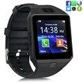 Dz09 smart watch com câmera cartão sim smartwatch para telefones android ios do bluetooth relógio de pulso das mulheres dos homens de apoio multi línguas