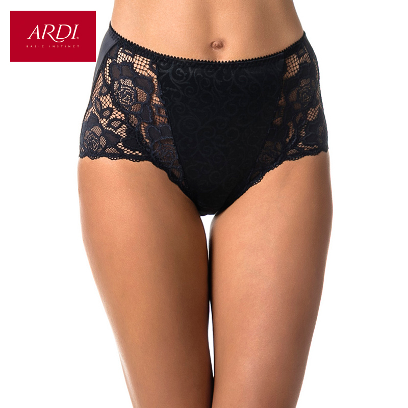 Woman s Briefs Lace Black Cotton Front Lining Large Size S M L XL XXL ARDI