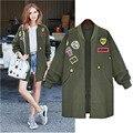 2015 nuevo otoño y el invierno moda abrigo trench para más el tamaño 5XL cazadora medio largo manteau femme outwear