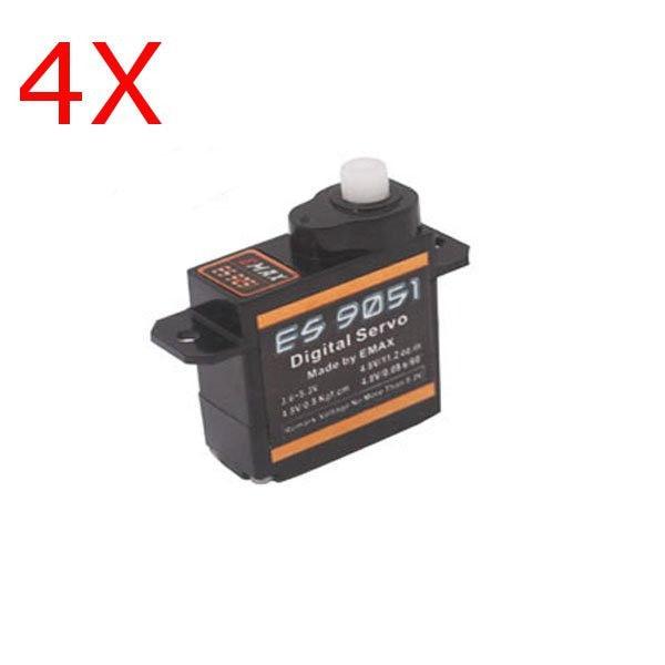 4 piezas Emax ES9051 Mini Digital Servo Motor para RC modelo