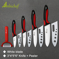 Kitchen Knife Ceramic Knife Cooking Set 3 4 5 6 Inch Peeler White Blade Paring Fruit