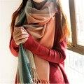 Cobertor de inverno Cachecol Mulheres Xales E Lenços Xadrez Cachecol Feminino Quente Mulheres Tippet Lic