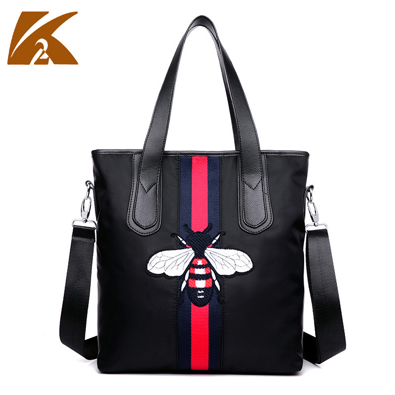 2016 New Brand Waterproof Nylon font b Handbags b font Women Large Capacity Print One Shoulder