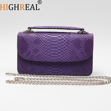 Genuine Leather Women Clutches Vintage Serpentine Ladies Clutch Bag Female Messenger Bag 2019 Brand Luxury Design Handbag