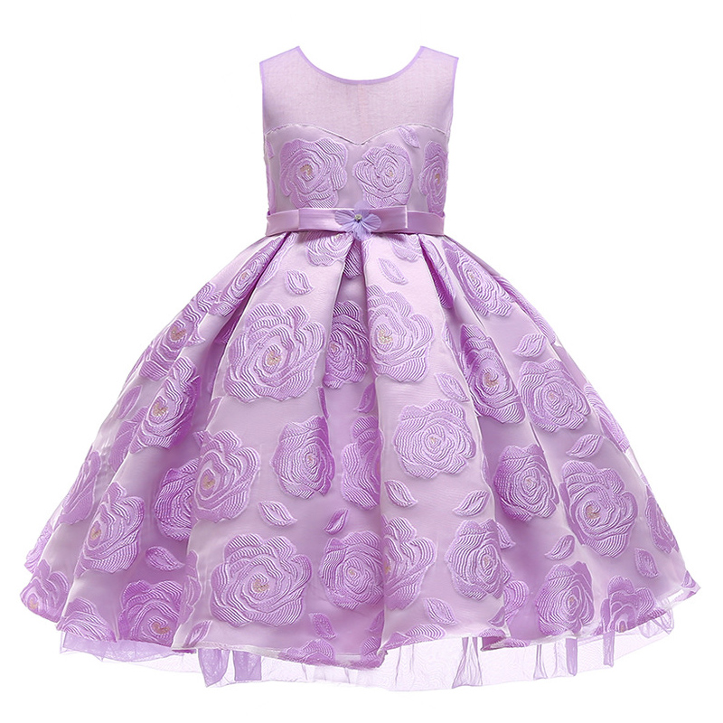 2019 new girl elegant bow dress girl pettiskirt fashion girl wedding dress princess dress girl children 39 s clothing in Dresses from Mother amp Kids