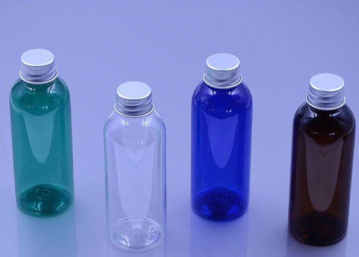 Doprava zdarma Nový styl 10ps vysoce kvalitní, prázdná, cestovní, 80ml plnicí láhev s hliníkovým uzávěrem pro šampon, mytí těla