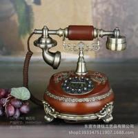 Caller ID telephone call fashion creative complex classical antique European classical wooden landline telephone