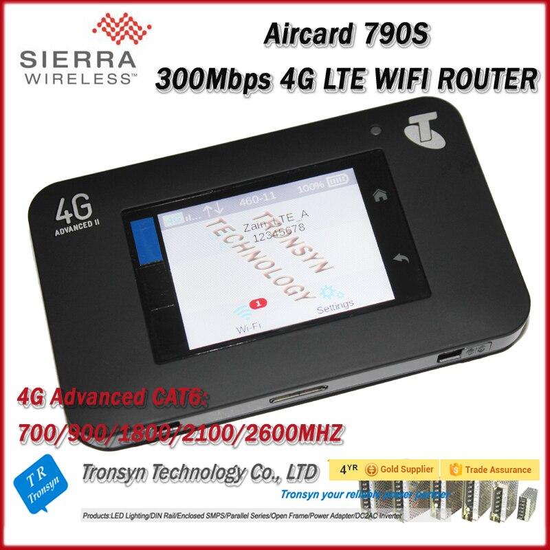 Лидер продаж оригинальный Сьерра радио AirCard 790 S 4G LTE CAT6 Портативный Wi-Fi маршрутизатор с Сенсорный экран Функция