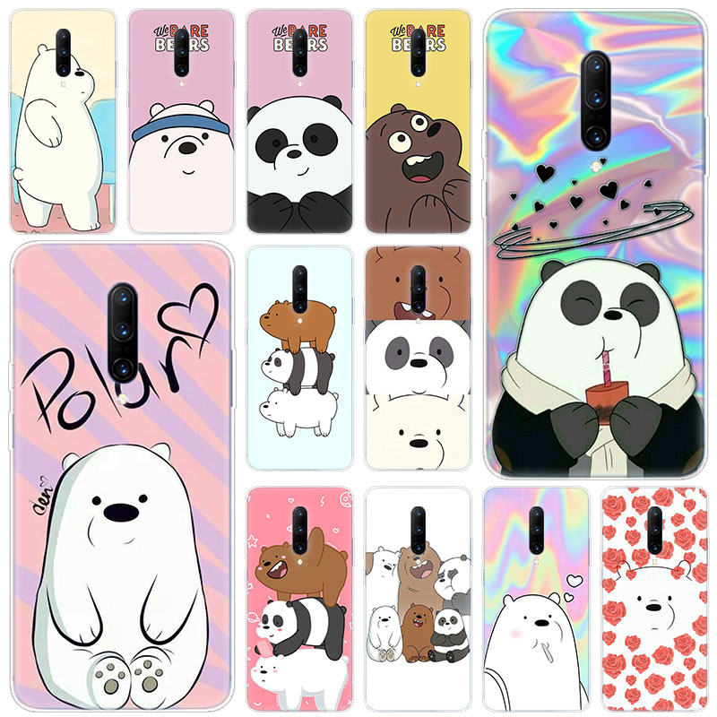 Hot Cute Cartoon we are bears Soft Silicone Fashion Transparent Case For font b OnePlus b