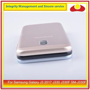 Image 5 - Original For Samsung Galaxy J3 2017 J330 J330F SM J330F Housing Battery Door Rear Back Cover Case Chassis Shell J330 Replacement