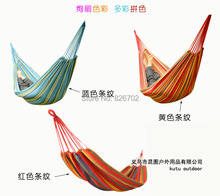 Outdoor Camping Double Hammock Swing  Leisure   200 x150cm Thickening Canvas Hammock Free Shipping