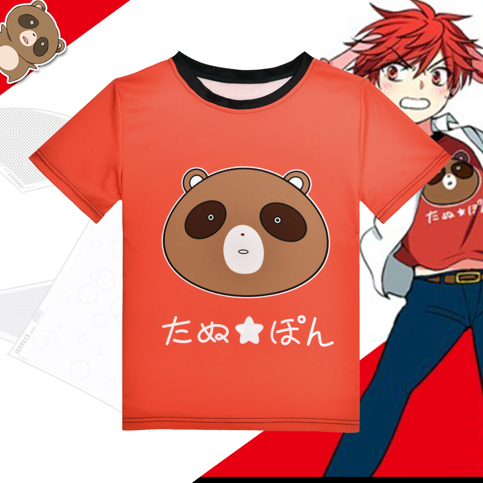 Anime monatliche Mädchen Nozaki-Kun T-Shirt Kawaii Tanuki Mikoshiba - Herrenbekleidung
