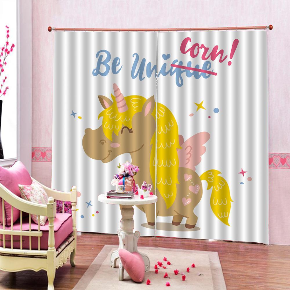 High quality custom 3d curtain fabric cartoon curtains animal curtain in Curtains from Home Garden