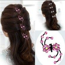 Hot 6Pcs Classic Girls Crystal Snowflake Hair Clips Hairpins Headwear Rhinestone Party Wedding Claws Accessories