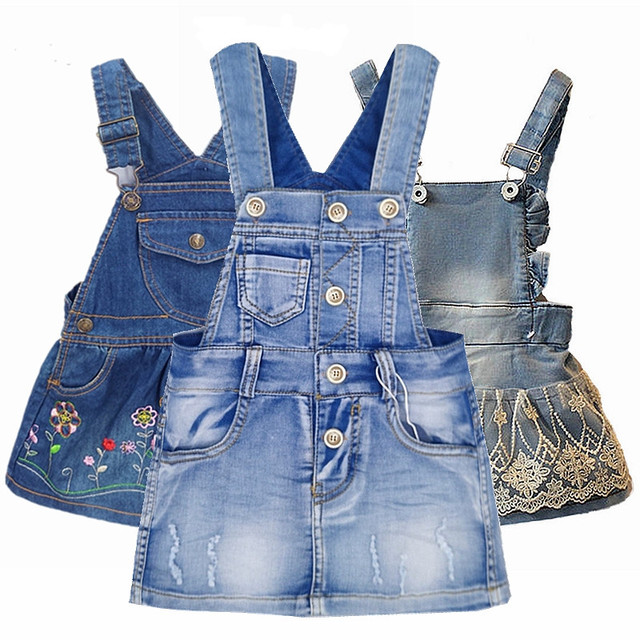 fbc8641fc41b5 Chumhey الصف طفلة ملابس الصيف فستان الشمس طفل حمالة الدنيم الأشرطة وزرة  Bebes ملابس الاطفال فساتين