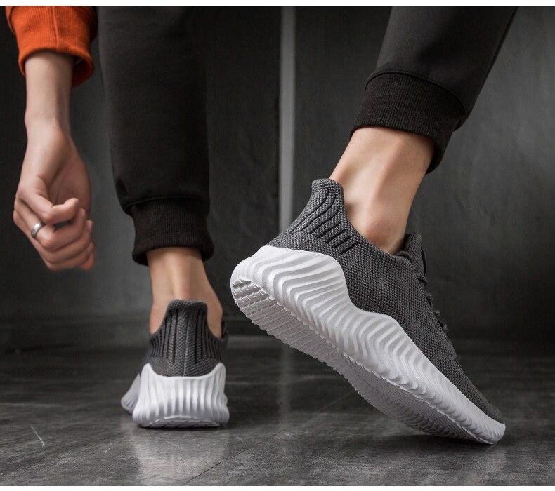 HTB1YRfoP3HqK1RjSZFgq6y7JXXaI KJEDGB 2019 New Ultralight Men Casual Shoes Solid Black White Gray Breathable Comfortable Sneakers Big Size 39-47 Male Shoes