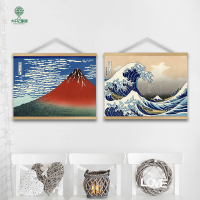 Japanese Ukiyo e Retro Linen Cloth Painting Scrolls Poster Mural paintings Banners Flag Japanese Cuisine Sushi Shop Decoration