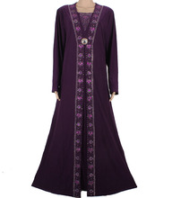 Islamic Clothing for Women Muslim Abaya Dress Beading Design Modest Jilbabs and Abayas Kaftan Dress 55X1090-1