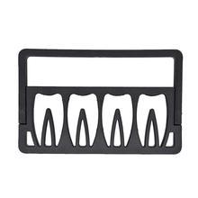 Держатель для стоматологического бора, коробка для размещения, 8 отверстий, форма зубов, стоматологический лабораторный инструмент, стоматология, держатель для корневого канала, дезинфекция