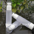 50ml frosted  airless   vacuum pump lotion bottle with white lid