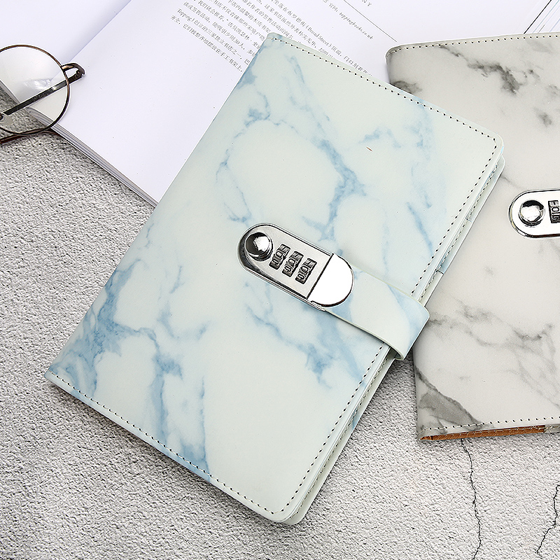 New Leather notebook diary with lock password code stationery products 100 sheets paper business supplies Creative Trends gift in Notebooks from Office School Supplies