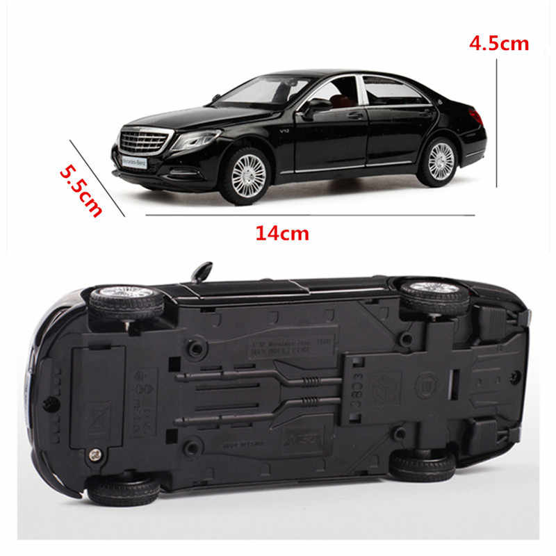Alloy 1/32 Maybach S600 Diecast Toy Vehicles Metal Cars Models mini toys mercedes cars track birthday Gifts For kids Children