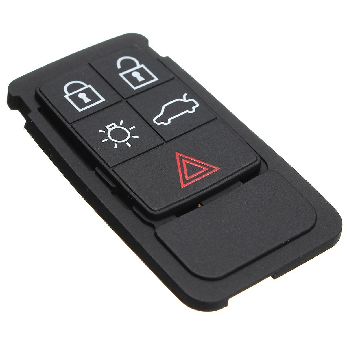 5 Tasten Remote Key Gummi Pad Ersatz Fob Fit Für Volvo S60 S80 Xc70 Xc90 Schwarz Gummi Matte Remote Key Fob Silikon Fall Kunden Zuerst