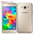 Original recuperado celular desbloqueado original samsung galaxy grand prime g530 g530h ouad núcleo dual sim touchscreen de 5.0 polegada