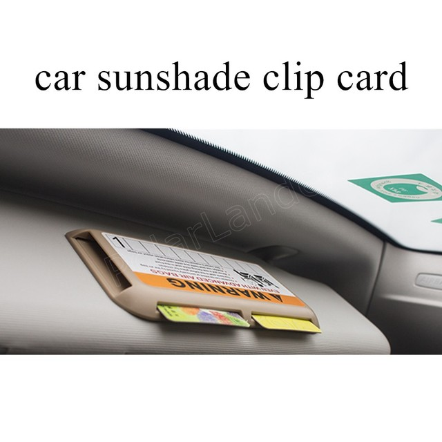 Couro genuíno titular do cartão de carro vidro do carro sol do carro clipe 3 cores para a opção de alta qualidade