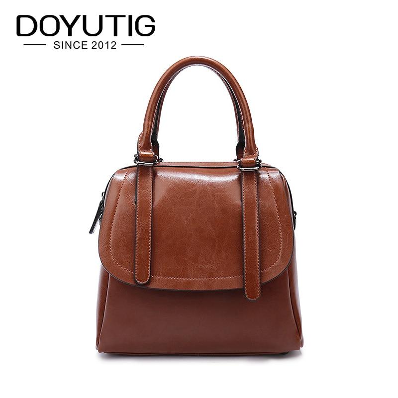 New Classical 100% Genuine eather Women Oil Wax Cowhide Handbags Fashion Ladies Portable Messenger Bags & Shoulder Bags F277 туфли shoiberg туфли на каблуке