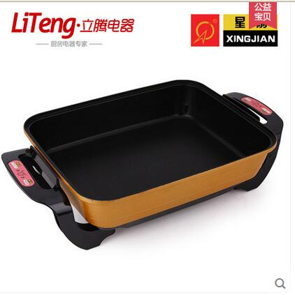 Korean high-capacity multi-function electric pan cooker pot cooker nonstick grill pan household surfaces cukyi small power electric cooker mini hot pot multi function electric cooker pot dormitory skillet pot noodle pot room