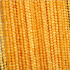 gemstone loose bead chain yellow color natural amber beads chain