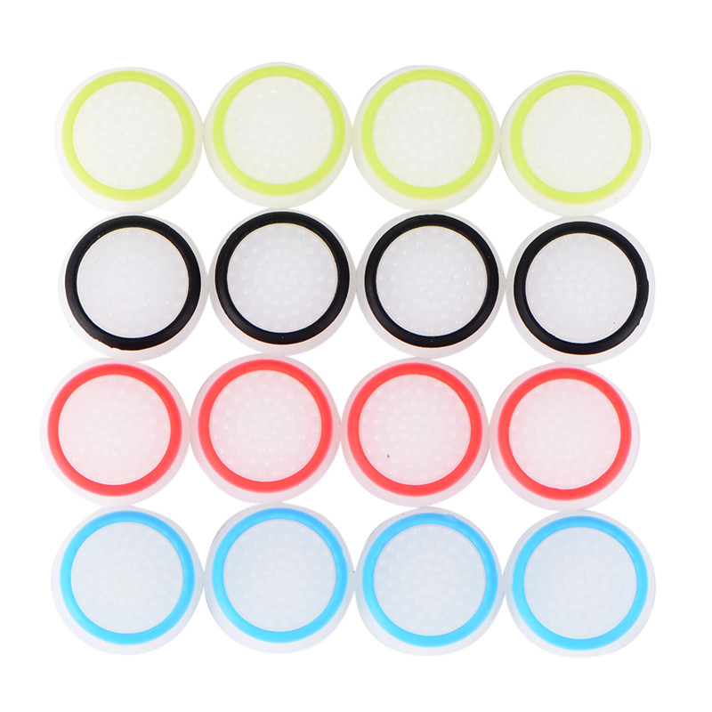 4pcs Game Pads Protective Cover Silicone Joystick Button Cap Replacement Cover Case For PS4 Game Controllers Accessory