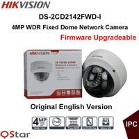 אנגלית מצלמת אבטחת ip Hikvision המקורי DS-2CD2142FWD-I POE טלוויזיה במעגל סגור המצלמה 4MP WDR מצלמת IP כיפה קבועה IP67 IP67 IK10