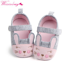 Newborn Baby Girl Shoes Spring Cartoon Rabbit Cotton