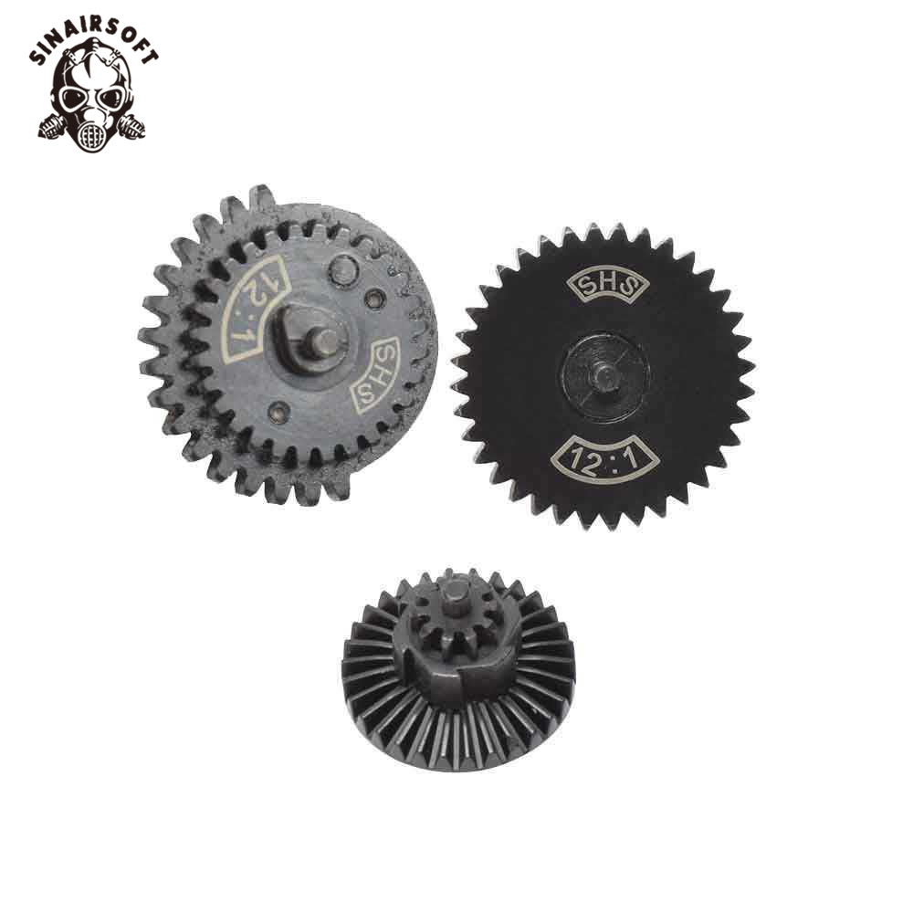 SINAIRSOFT SHS 12:1 New Type Ultra-high Speed Gear Set Hunting Accessories For Ver.2 / 3 AEG Airsoft Gearbox