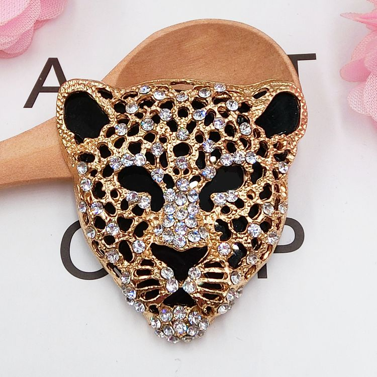 1pc Alloy Stickers For Phones Crystal Rhinestones Leopard/Panther Head Punk DIY Decoration/Accessories Charms Jewelry Findings