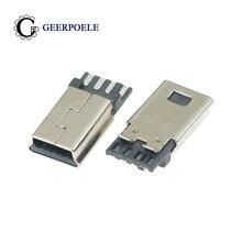 20 pcs/lot Front 5P Behind 4P 4P 30V 1.5A MINI USB Connectors Male Jack Tail Plug Electric Terminals 20pcs lot ceu61a3 61a3 30v